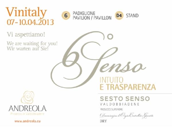 Andreola invito Vinitaly 2013