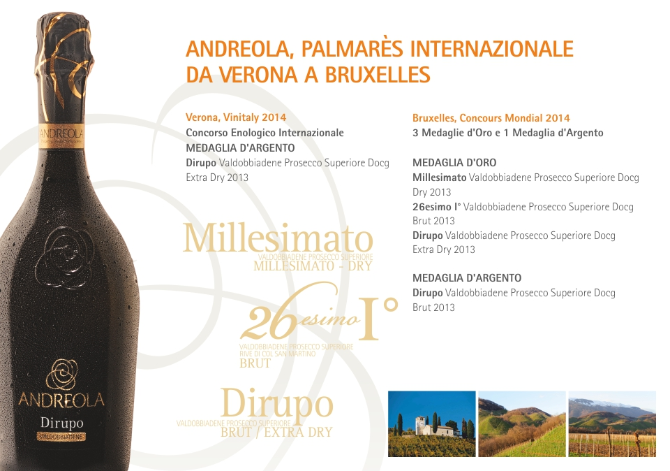 Andreola, palmarès internazionale!