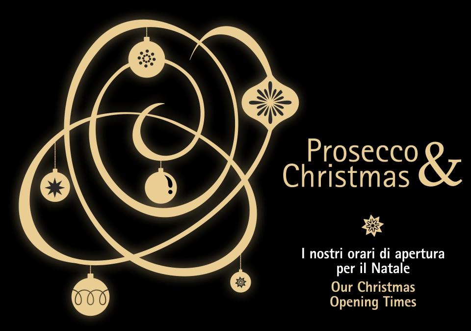 Gli orari di apertura della nostra sede per le festività natalizie